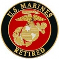 "USMC LOGO RETIRED PIN (15/16"")"