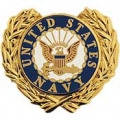 "PIN-USN LOGO, WREATH (1"")"