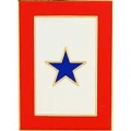 "FAMILY MEMBER IN SERVICE BLUE STAR PIN (LRG) (1-1/2"")"