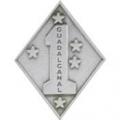 "USMC 1ST DIV PIN (1-1/16"")"