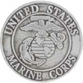 "USMC LOGO PEWTER PIN (1"")"