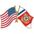 """USA / USCG FLAG PIN (1-1/4"""")"""