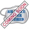 """USAF EMBLEM NEVER RETIRED PIN (1"""")"""