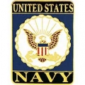 "PIN-USN LOGO, RECTANGLE (1"")"