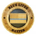 THIN BLUE LINE  PLAQUE 12""