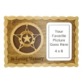 "SHERIFF DEPT. - IN LOVING MEMORY - PICTURE PLAQUE 14"" X 7"""