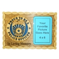 "PROUD TO BE A POLICE OFFICER - IN LOVING MEMORY- PICTURE PLAQUE 14"" X 7"""