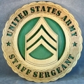 ARMY STAFF SERGEANT PLAQUE