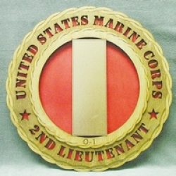 2ND LIEUTENANT MARINE PLAQUE