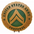 ARMY E-4 CORPORAL PLAQUE