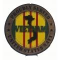 PROUDLY SERVED NAVY  VIETNAM VETERAN PLAQUE