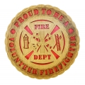 "PROUD TO BE A VOLUNTEER FIREFIGHTER- 12"" PLAQUE"