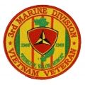 3RD MARINE DIVISION VIETNAM PATCH. 4""