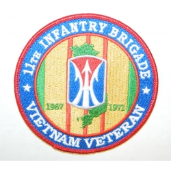 11TH INFANTRY BRIGADE VIETNAM VETERAN PATCH. 4""