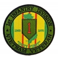 1ST INFANTRY DIVISION VIETNAM VETERAN PATCH. 4""