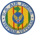 U.S AIR FORCE VIETNAM VETERAN PATCH. 4""