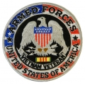 ARMED FORCES AMERICA, VIETNAM VETERAN PATCH. 4""