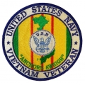 NAVY VIETNAM VETERAN PATCH. 4""