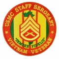 USMC STAFF SERGEANT VIETNAM VETERAN PATCH. 4""