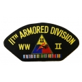 11TH ARMORED WWII HAT PATCH- WITH THE OPTION TO HAVE IT ADDED TO A HAT
