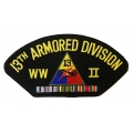 13TH ARMORED DIVISION WWII HAT PATCH - WITH THE OPTION TO HAVE IT ADDED TO A HAT