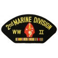 2ND MARINE DIVISION WWII HAT PATCH- WITH OPTION TO HAVE IT ADDED TO A HAT
