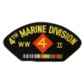 4TH MARINE DIVISION WWII HAT PATCH- WITH OPTION TO HAVE IT ADDED TO A HAT