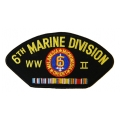 6TH MARINE DIVISION WWII HAT PATCH- WITH THE OPTION TO HAVE IT ADDED TO A HAT