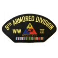 8TH ARMORED DIVISION WWII HAT PATCH - WITH THE OPTION TO HAVE IT ADDED TO A HAT
