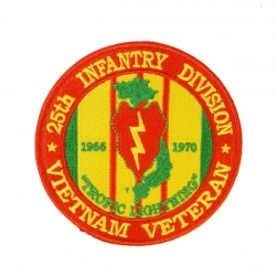 25TH INFANTRY DIVISION VIETNAM VETERAN PATCH. 4""