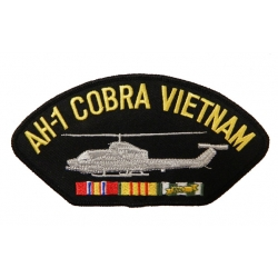 AH-1 COBRA VIETNAM HAT PATCH- WITH THE OPTION TO HAVE IT ADDED TO A HAT