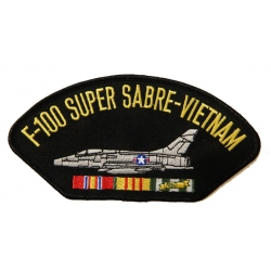 F-100 SUPER SABRE VIETNAM HAT PATCH - WITH THE OPTION TO HAVE IT ADDED TO A HAT