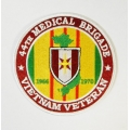 44TH MEDICAL BRIGADE VIETNAM VETERAN PATCH . 4""