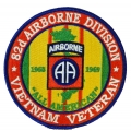 82ND AIRBORNE DIVISION VIETNAM VETERAN PATCH. 4""