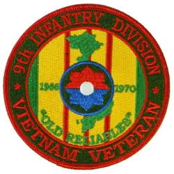 9TH INFANTRY DIVISION VIETNAM VETERAN PATCH. 4""