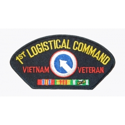 1ST LOGISTICAL COMMAND VIETNAM VETERAN HAT PATCH - WITH THE OPTION TO ADD TO A HAT