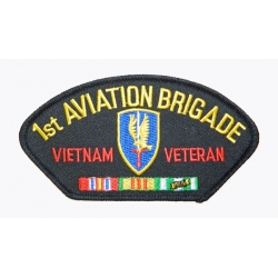 1ST AVIATION BRIGADE VIETNAM VETERAN HAT PATCH - WITH THE OPTION TO ADD TO A HAT