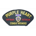 PURPLE HEART VIETNAM VETERAN HAT PATCH - WITH OPTION TO ADD TO A HAT