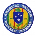 AMERICAL DIVISION VIETNAM VETERAN PATCH. 4""