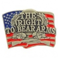 "RIGHT TO BEAR ARMS ,PEWTER (1"")"