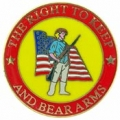 "RIGHT TO BEAR ARMS , SOLDIER (1"")"