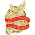 "RIGHT TO KEEP AND BEAR ARMS, EAGLE (1-1/4"")"