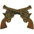 "GUN - CROSSED REVOLVERS (1"")"