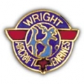 "WRIGHT AIRCRAFT ENGINES PIN (LOGO) (1"")"