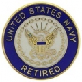 "PIN-USN LOGO, RETIRED (MINI) (5/8"")"