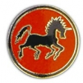 "PIN-USN, BLACK PONIES (1"")"
