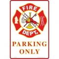 "SIGN-FIRE DEPARTMENT (SMALL) (8""X12"")"