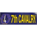 7TH CAVALRY GARRY OWEN BUMPER STICKER