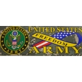 U.S ARMY FREEDOM RIBBON BUMPER STICKER