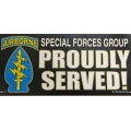 AIRBORNE SPECIAL FORCES GROUP BUMPER STICKER